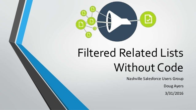 Filtered Related Lists Without Code Nashville Salesforce Users Group Doug Ayers 3/31/2016