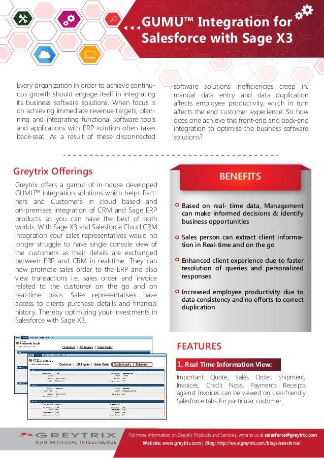 Salesforce and Sage Business Cloud Enterprise Management
