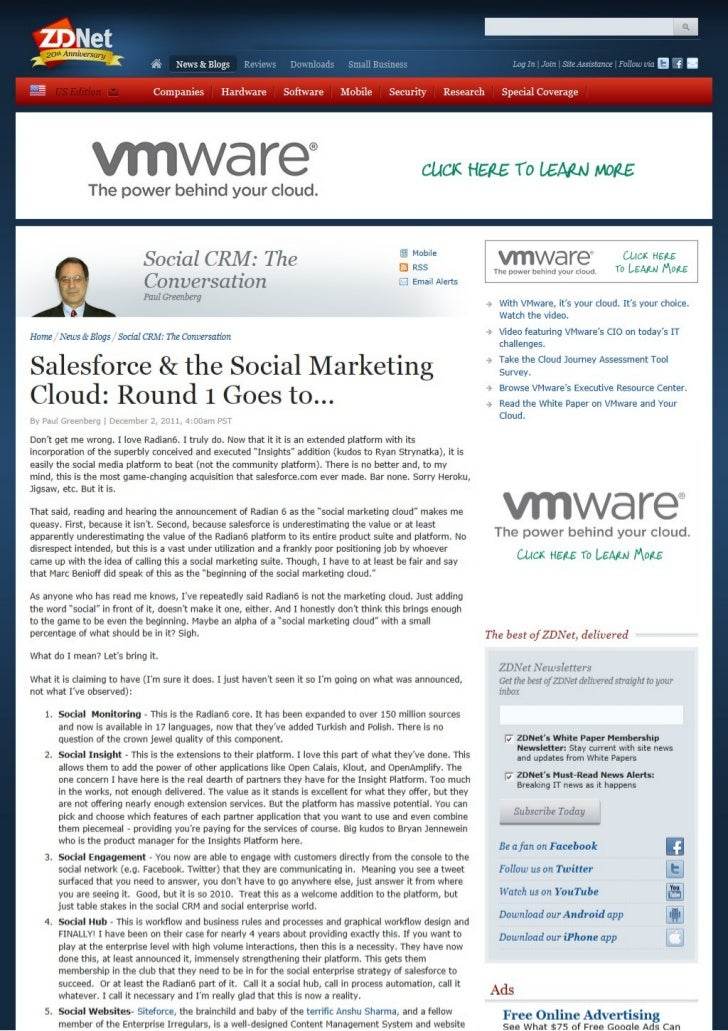 Salesforce & the Social Marketing Cloud: Round 1 Goes to...