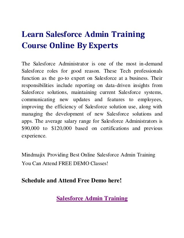 Salesforce Admin training and Certification Course