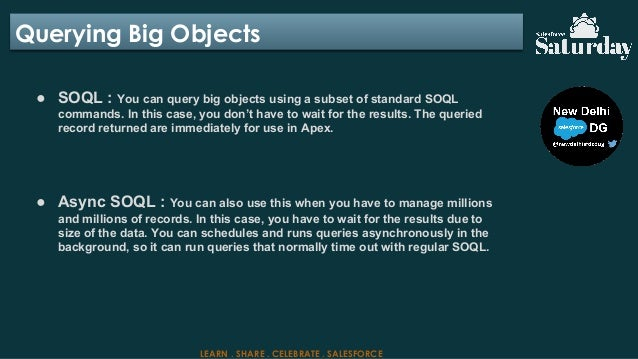 SalesforceSaturday : Salesforce BIG Objects Explained