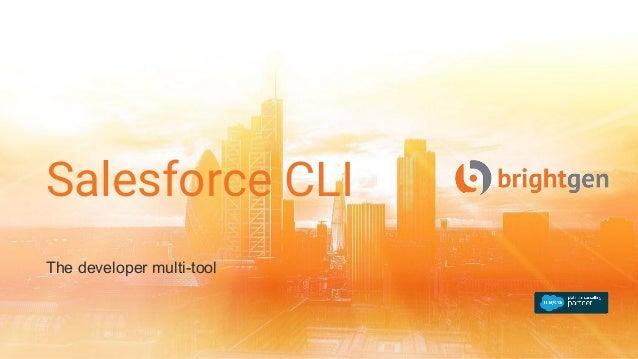 Salesforce CLI The developer multi-tool