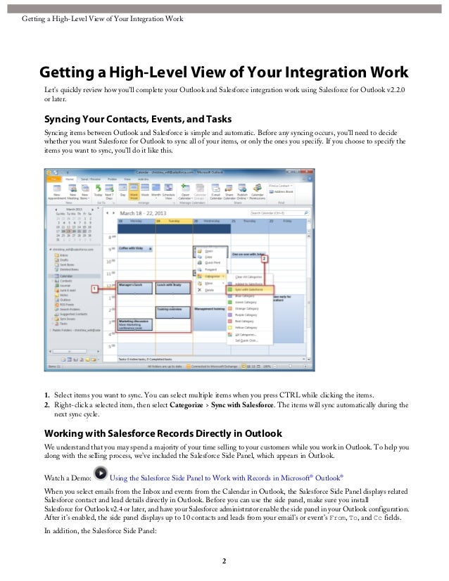 Salesforce Integration | Outlook Sync Guide