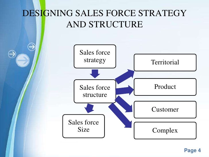 sales team structure template - sales force management