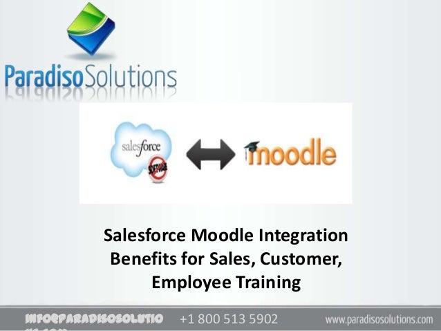 +1 800 513 5902info@paradisosolutioSalesforce Moodle IntegrationBenefits for Sales, Customer,Employee Training