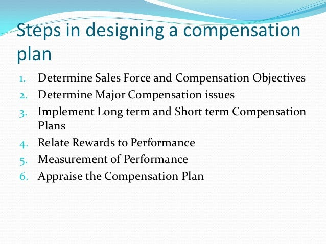 compensating sales force Clik here   the basic concepts of sales compensation design, which apply to several industries reveals why job content, not industry, is the source of compensation design and provides a hierarchy of sales.