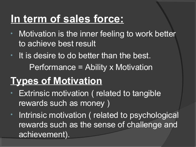 importance of motivating sales force