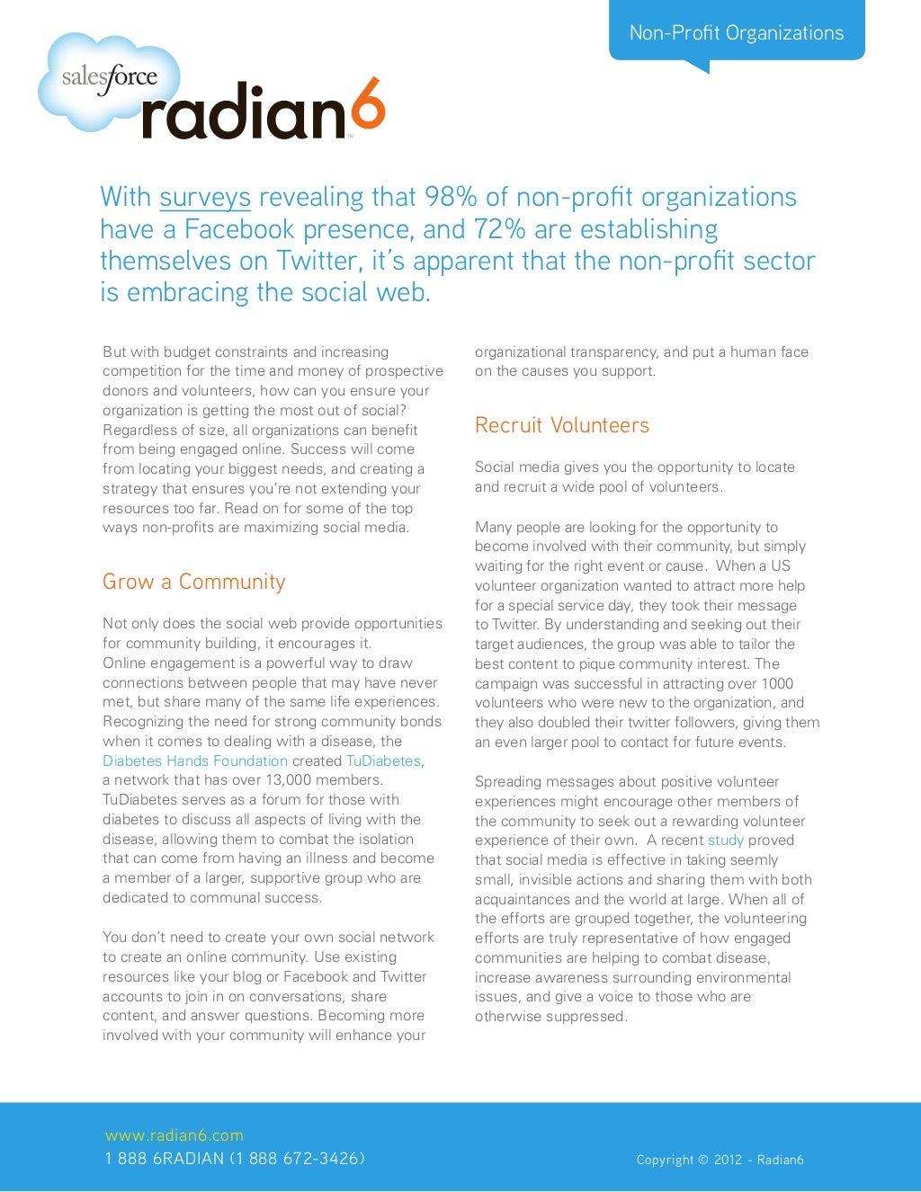 Non-Profit Organizations Embrace the Social Web