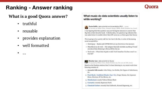 Machine Learning at Quora (2/26/2016)
