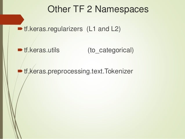 Introduction to TensorFlow 2