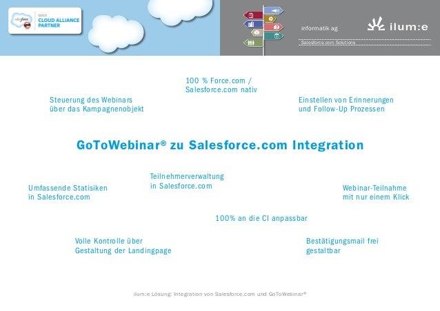 Salesforce zu GoTo Webinar Integration von ilum:e informatik AG Slide 2