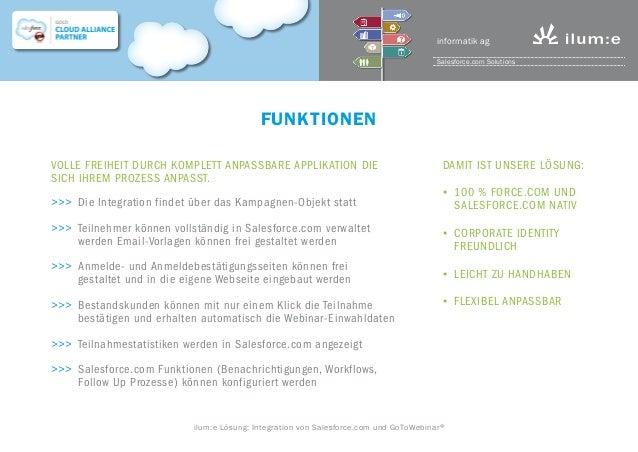 Salesforce zu GoTo Webinar Integration von ilum:e informatik AG Slide 3