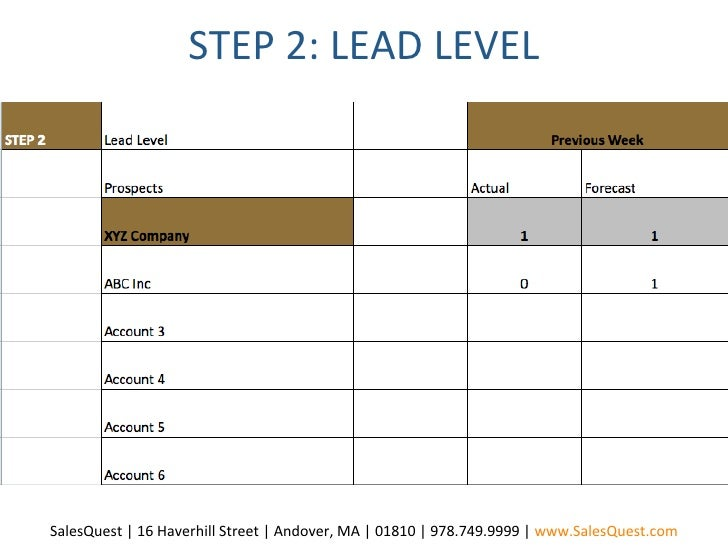 sales lead sheet