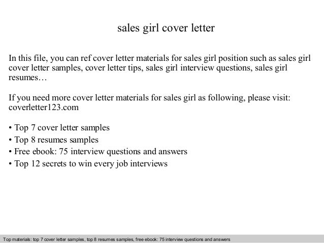 Sales Girl Cover Letter In This File, You Can Ref Cover Letter Materials  For Sales ...  Cover Letter Sales
