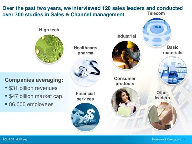 McKinsey & Company   3 Over the past two years, we interviewed 120 sales leaders and conducted over 700 studies in Sales &...