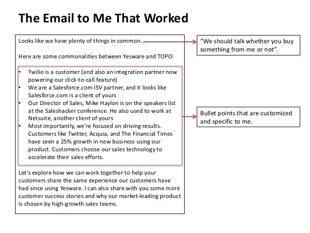 The Email to Me That Worked  Looks like we have plenty of things in common…  Here are some commonalities between Yesware a...