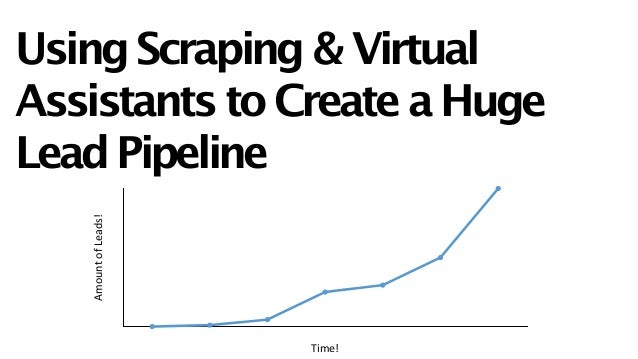 Using Scraping & Virtual Assistants to Create a Huge Lead Pipeline Amount  of  Leads! Time!