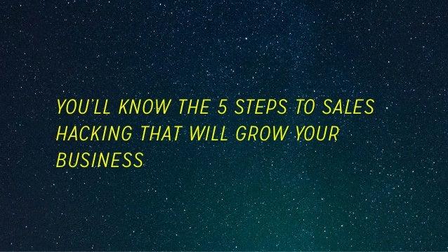 Sales Hacking Fundamentals Slide 3