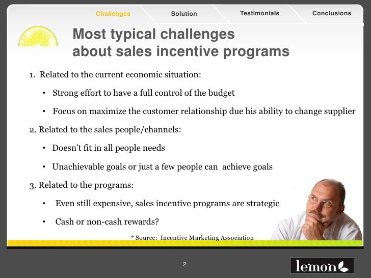 Effectiveness in sales incentive programs Slide 2