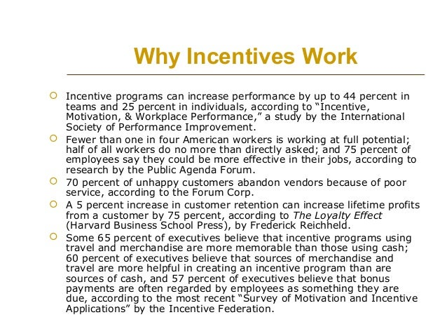 How to Create Incentive Plans