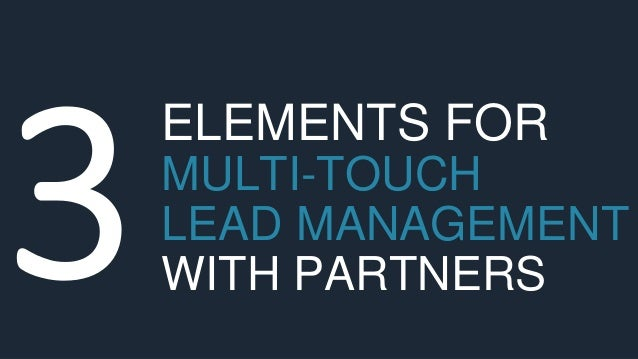 ELEMENTS FOR MULTI-TOUCH LEAD MANAGEMENT WITH PARTNERS
