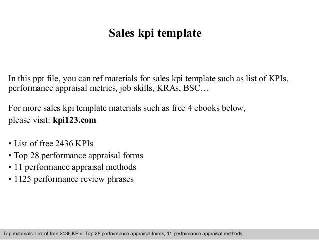 Sales Kpi Template In This Ppt File You Can Ref Materials For