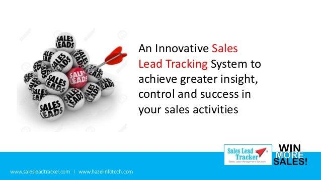 sales lead tracker presentation