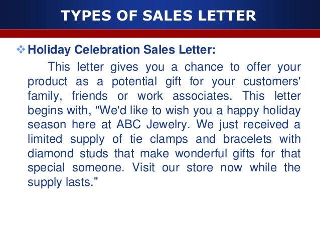Sales letter – Sample Sales Letter to Customer