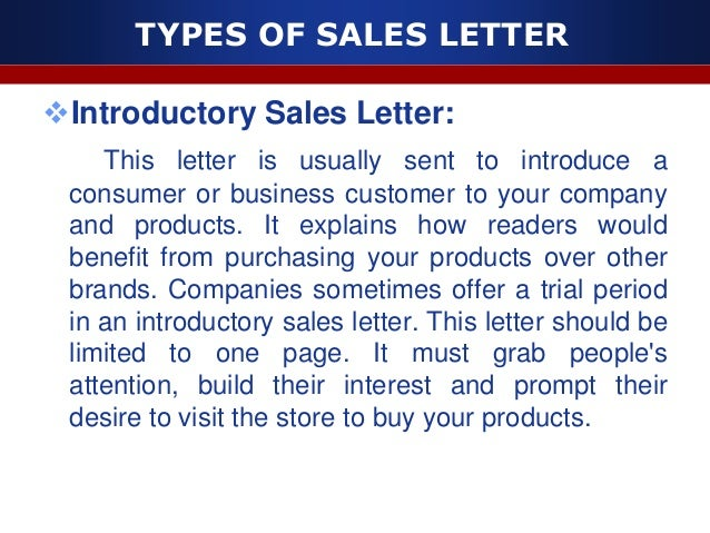 7. TYPES OF SALES LETTER  Product ...  New Product Introduction Letter Template
