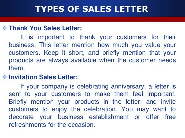 Sales letter 9 types of sales letter stopboris Choice Image
