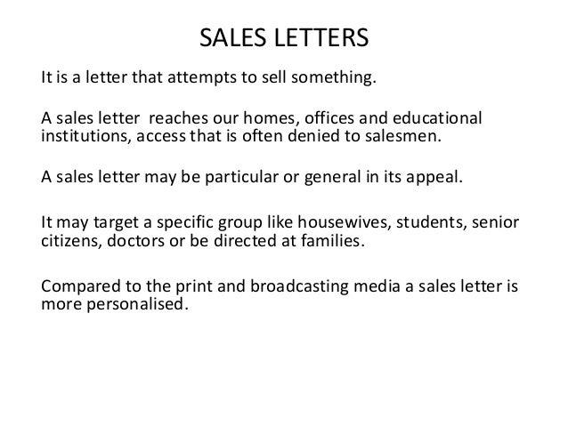 sale letter sample