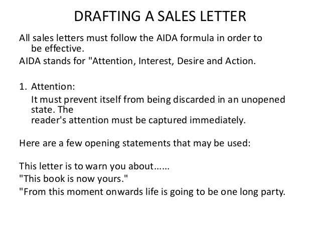 Successful Sales Letter Tips A Sales Letter For Prospecting And