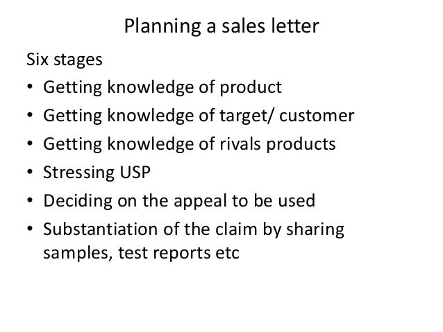Sales letters – Sales Letter for Product