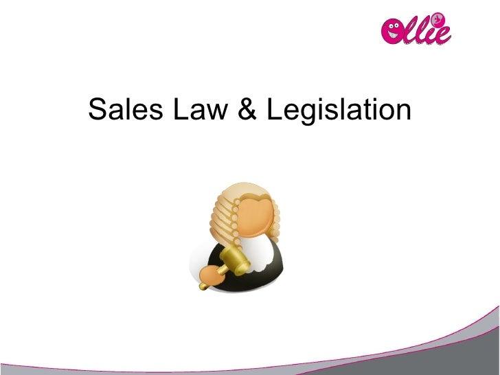 Sales Law & Legislation