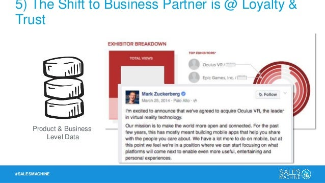 #SALESMACHINE 5) The Shift to Business Partner is @ Loyalty & Trust Elevates the Customer Success Conversation
