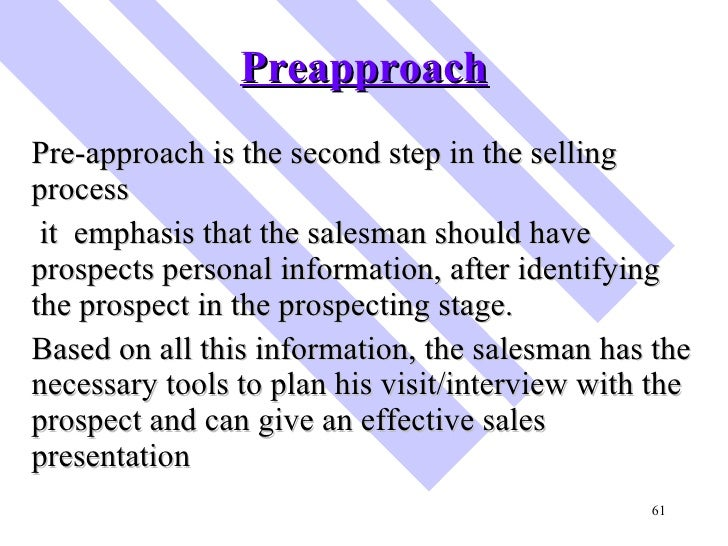 pre approach definition