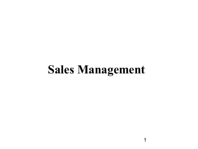 Sales Management               1
