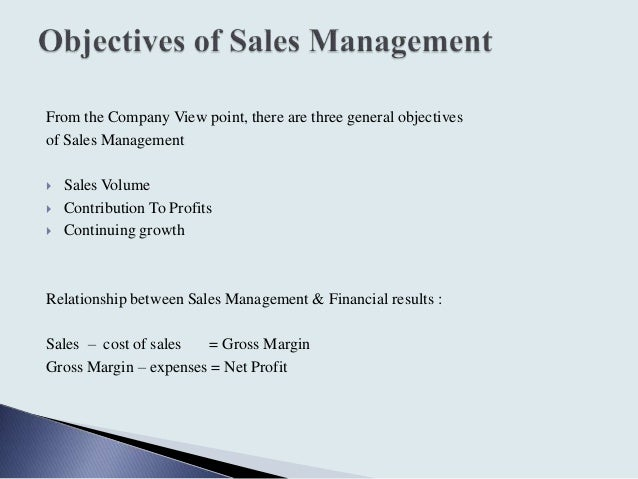 general objectives of point of sales The marketing strategy is about managing from the  the starting point is to understand the driving forces in the environment or  sales forecast: 3 objectives.