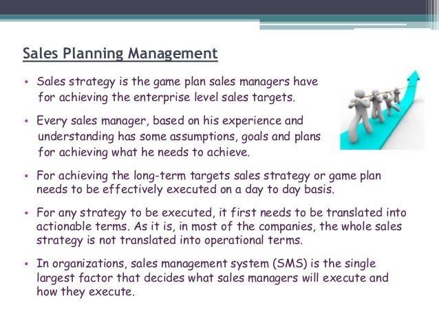 Sales Management Planning – Plan Sales