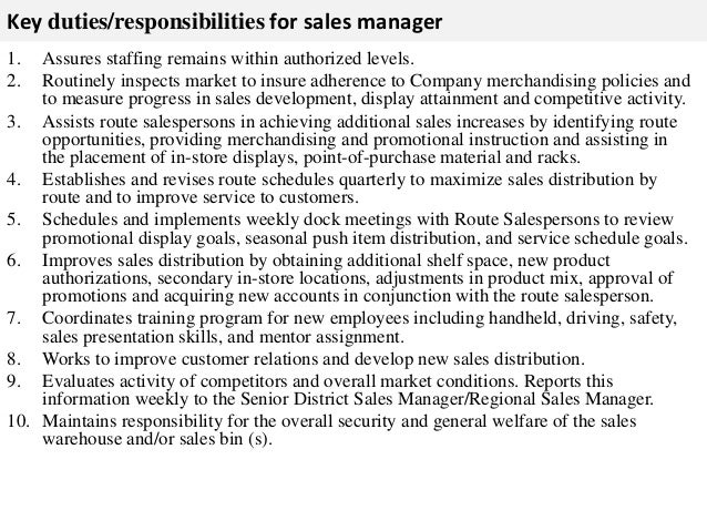 Sales manager job description – Sales Job Description