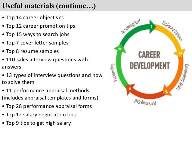 ... Objectives U2022 Top 12 Career Promotion Tips; 7.  Sales Objective Resume