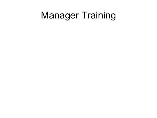 Manager Training