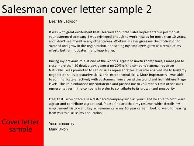 salesman cover letter - Keni.ganamas.co