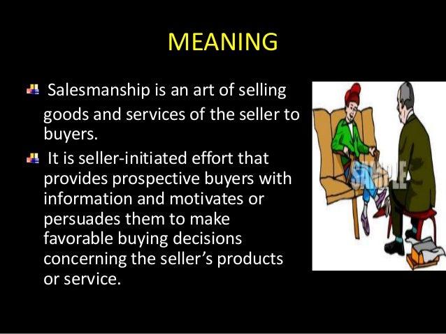 Salesmanship Slide 2