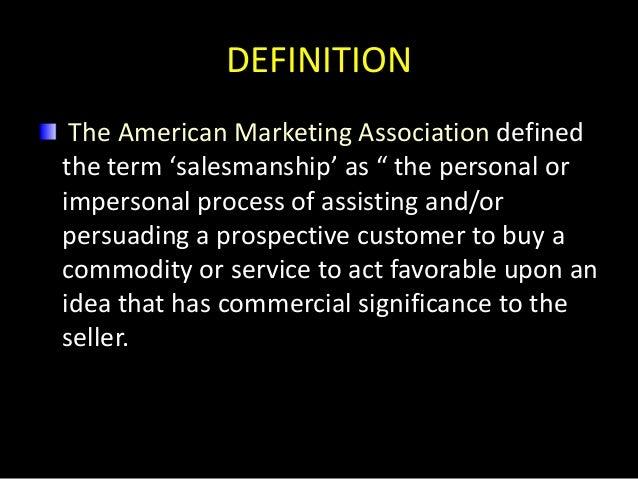 Salesmanship Slide 3
