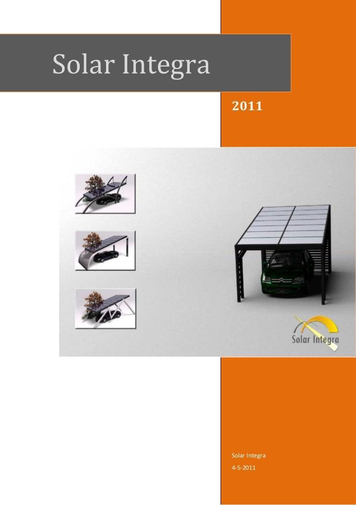 Solar Integra                2011                Solar Integra                4-5-2011