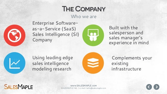 www.SALESMAPLE.com SALESMAPLE INC.   e-mail: hello@salesmaple.com Analysis is hard, error prone, and require specialized k...