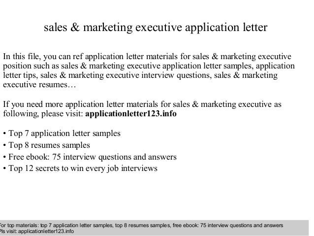 Sales marketing executive application letter sales marketing executive application letter in this file you can ref application letter materials application letter sample spiritdancerdesigns Gallery