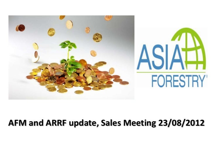 AFM and ARRF update, Sales Meeting 23/08/2012