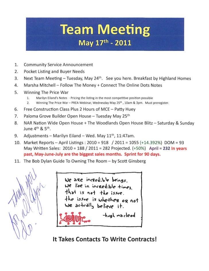 meeting agenda notes